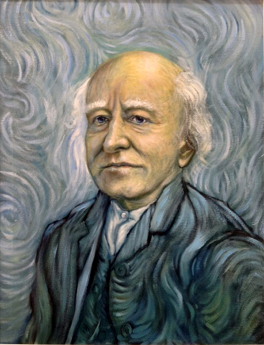 Michael D. Higgins as &quot;Poet President&quot;<br> after &quot;Self Portrait 1889&quot; by Vincent VanGogh